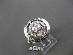 Estate Large 1.30ct Gia Diamond 14kt White Gold Filigree Engagement Ring #21088