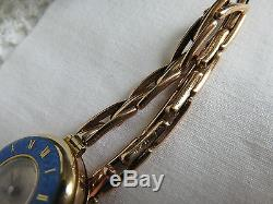 Extremely RARE Vintage 9ct ROLEX Watch Half Hunter Cloisonne Enamel London 1921