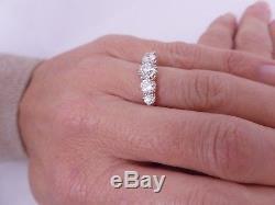 Extremely large 1.85 carat 5 stone diamond, 18 carat rose gold ring