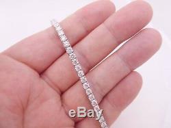 Extremely large fine 7.65 carat diamond heavy 18 carat gold tennis bracelet