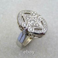 Fine Art Deco Vintage & Antique Wedding Ring 1.50 Ct Diamond 14k White Gold Over