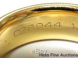Genuine Tiffany 1.24ct Diamond G VVS1 EX VG Wide Platinum 18k Gold Ring w Papers