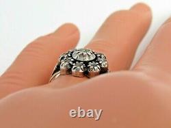 Georgian Antique rose cut diamond cluster ring, 18k gold 19k