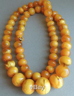 Huge! Natural Butterscotch Honey Amber Beaded Necklace 260 Grams