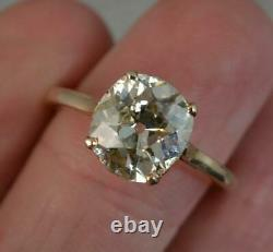 Huge Victorian 14ct Rose Gold 2.5ct Old Cut Diamond Solitaire Engagement Ring