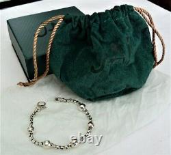 Jai John Hardy. 925 Sterling Silver Hammered Bead Chain Bracelet New In Box 7