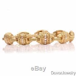 Judith Ripka 2.00ct Diamond 18K Gold Links Bracelet 39.9 Grams $18000.00 NR