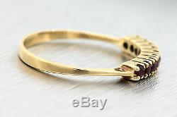 Ladies Antique Art Deco 14K 585 Yellow Gold Ruby Eternity Band Ring