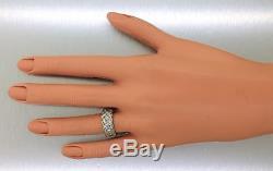 Ladies Antique Art Deco Estate Platinum Diamond Row Eternity Band Ring