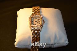 Ladies Cartier Panthere 18K Yellow Gold and Diamond Watch
