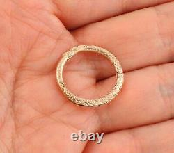 Large Antique Georgian 15Ct Gold Ouroboros / Snake Split Ring For Fob