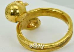 MUSEUM 19th Century Victorian 18k Gold&Diamonds Memento Mori Skull&Snake ring
