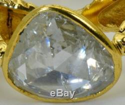 MUSEUM Victorian 18k gold&2ct Rose Cut DIAMOND Memento Mori Snake ring c1831