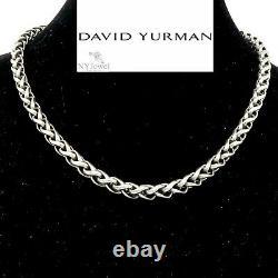 NYJEWEL David Yurman 14K Gold Sterling Silver 6mm Wide Wheat Chain Necklace 50g
