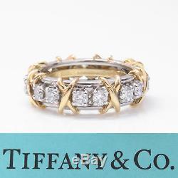 NYJEWEL Tiffany & Co. Schlumberger 18k Platinum'XO' 1.75ct Diamond Wedding Ring