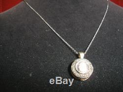 Own Antique 1/2 Ct Rose Cut Diamond 14k Pendant, Necklace Free 14k Wg Chain