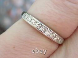 Platinum Antique Vintage Vs Diamond Eternity Engagement Wedding Ring Deco Band