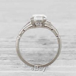 Rare Vintage Art Deco 1.55 Carat Diamond Engagement Ring Circa 1930