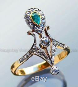 Rare Vintage Art Deco Antique 1 Ct Diamond Engagement Victorian Ring C. 1900's