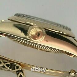 Rolex Lady President Oyster Perpetual Heavy 14k Solid Gold Bracelet VTG Estate