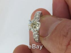 Stunning 1.60 carat old cut diamond 18 carat gold ring