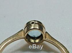 Stunning Antique Art Deco 18ct Yellow Gold 0.50cts Aquamarine Ring Dated 1918
