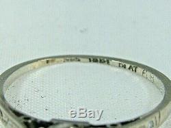 Stunning Antique Edwardian Platinum 0.50 CT Diamond Solitaire Ring Circa 1910