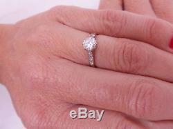 Stunning art deco 55 point old cut diamond solitaire 18 carat platinum ring