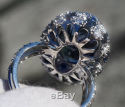 Tanzanite Ring Gold Diamond 14K Natural GIA Certif 14.13CT Unheated RETAIL$18700
