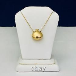 Tiffany & Co Elsa Peretti 18k Closed Bottle Pendant & Necklace