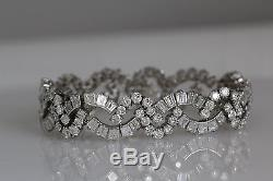 Tiffany & Co Vintage Estate Platinum Diamond Bracelet 22.7 Carats Art Deco Style