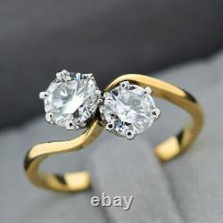 Toi et Moi 18ct Yellow Gold, 1.27ct Diamond Two Stone Ring