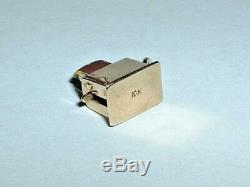VINTAGE 10k YELLOW GOLD MOVEABLE KITCHEN TOASTER CHARM