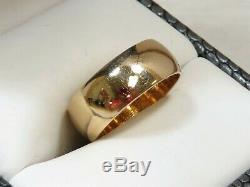 VINTAGE Estate 14K Yellow Gold 7.33mm Band/Ring Sz 7.25 (5.76g)