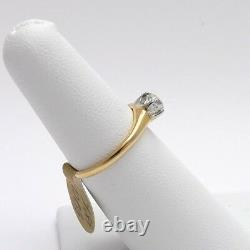 Victorian 18k Gold Chunky Old Mine Cut Diamond Engagement Ring. 50 ct Sz6