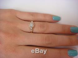 Vintage, 0.25ct Diamond Engagement Ring, 10k Yellow Gold 1.2 Grams, Size 6