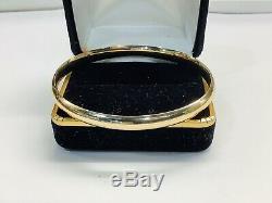 Vintage 14k Gold Bangle Bracelet, Hinged 7