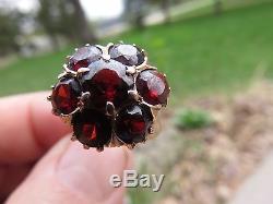 Vintage 14k Rose Gold Garnet ring size 6 7/8