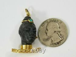 Vintage 18K Gold BLACKAMOOR Charm Pendant Italian