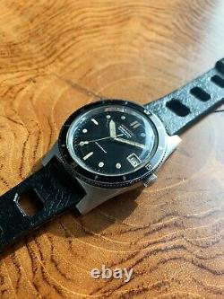 Vintage 1960s Orator Aqualung 666 Skin Diver Watch with 20mm Tropic Style Strap