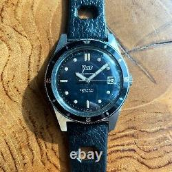 Vintage 1960s Voit Aqualung 666 Skin Diver Watch with 20mm Tropic Style Strap