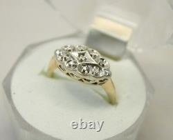 Vintage Antique 14K Gold Art Deco Diamond Wedding Engagement Ring 3.4g size 6