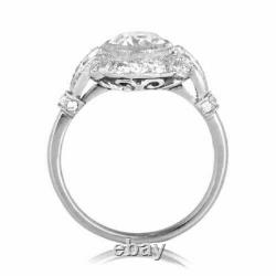 Vintage Art Deco Engagement Ring Edwardian Wedding Ring 3 Ct Diamond 925 Silver