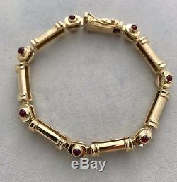 Vintage Bracelet In 18k Yg With Vs Diamonds & Rubies, Ret. Appr. Usd $7,500.00