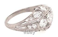 Vintage Diamond Engagement Cocktail Ring 1.70ct Platinum Antique Art Deco