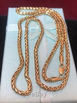 Vintage Estate 10k Yellow Gold Chain Necklace Designer Signed MI 20