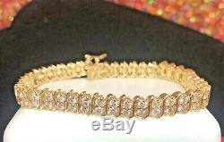 Vintage Estate 14k Gold Natural Diamond Bracelet Appraisal 5 Carats