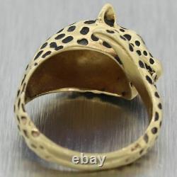 Vintage Estate 14k Yellow Gold Diamond Jaguar Ring