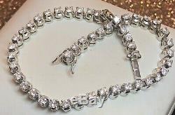 Vintage Estate 18k White Gold Diamond Tennis Bracelet 2.4 Tcw Appraisal