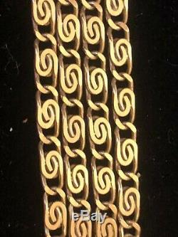 Vintage Estate 18k Yellow Solid Gold Necklace Chain Designer Rope 750